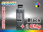 Black -Refill Toner for Xerox Phaser 6120 + 1 Chip