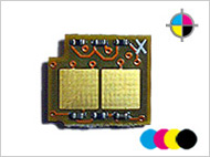 4 counterchips for HP CM 1015/1017 MFP (C/M/Y/K)