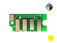 1 counterchip for DELL C 1660 W - Yellow