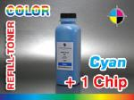 Cyan - Refill Toner for Xerox Phaser 6120 + 1 Chip