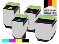 4 toner cartridges for Lexmark CS 317/CX 317