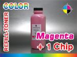 Magenta- Refill Toner for DELL 2145 dn + 1 Chip