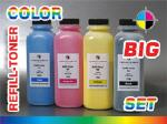 Refill-Toner Set for OKI C-9300 (C/M/Y/Bl.) - BIG