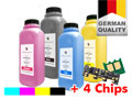 Refill-Toner Set + 4 Chips for OKI ES2232A4/ES2632