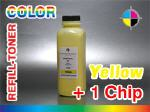 Yellow-Refill Toner for Xerox Phaser 6120 + 1 Chip